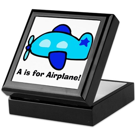 A is for Airplane! Keepsake Box