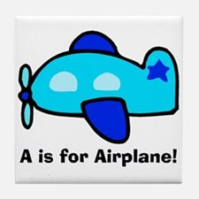 A is for Airplane! Tile Coaster