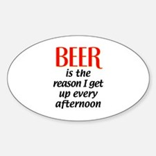 Beer is the Reason Oval Bumper Stickers