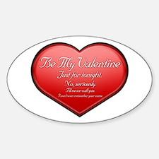 One Night Valentine Oval Decal
