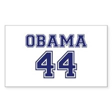 """""""Obama 44"""" Rectangle Decal"""