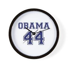 """Obama 44"" Wall Clock"