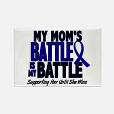 My Battle Too 1 BLUE (Mom) Rectangle Magnet