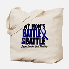 My Battle Too 1 BLUE (Mom) Tote Bag