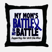 My Battle Too 1 BLUE (Mom) Throw Pillow