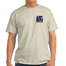 My Battle Too 1 BLUE (Mom) T-Shirt
