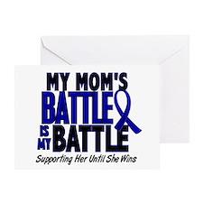 My Battle Too 1 BLUE (Mom) Greeting Card