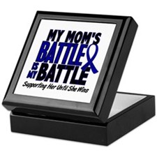 My Battle Too 1 BLUE (Mom) Keepsake Box