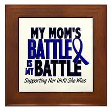My Battle Too 1 BLUE (Mom) Framed Tile