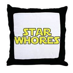 Star Whores Throw Pillow