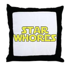 Star Whores Throw Pillow