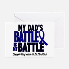 My Battle Too 1 BLUE (Dad) Greeting Card
