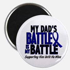 """My Battle Too 1 BLUE (Dad) 2.25"""" Magnet (10 pack)"""