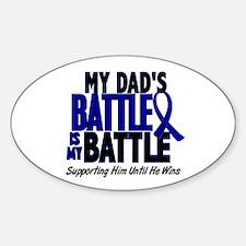 My Battle Too 1 BLUE (Dad) Oval Sticker (10 pk)