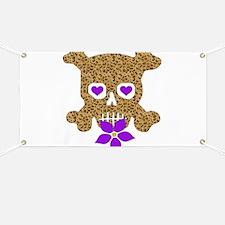 Leopard Skull Anti-Valentine Banner