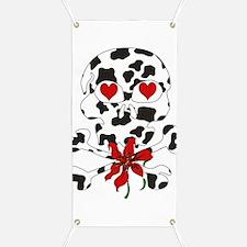 Cow Skull Anti-Valentine Banner