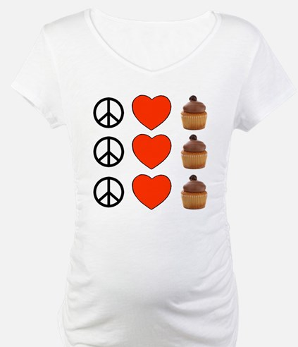 Peace Love & Cupcakes Shirt