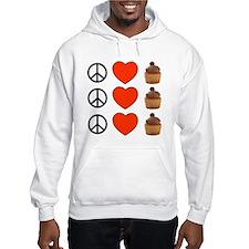 Peace Love & Cupcakes Hoodie