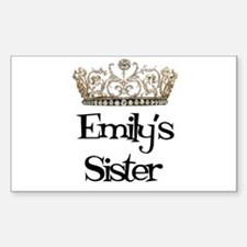 Emily's Sister Rectangle Decal