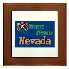 Nevada means Home Framed Tile