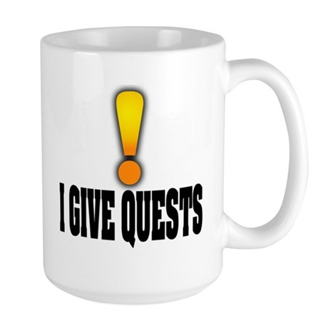 I Give Quests Large Mug