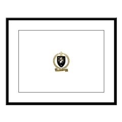 LEFRANC Family Crest Large Framed Print