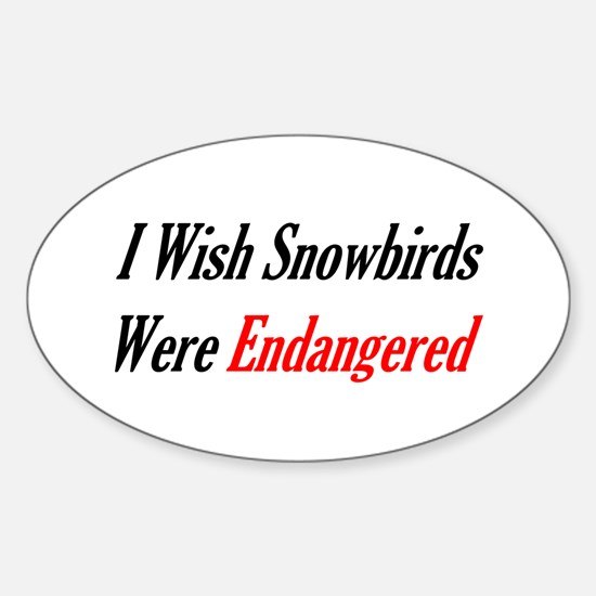 Snowbirds Endangered Oval Decal