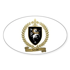 LEFRANC Family Crest Oval Decal