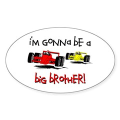 I'm Gonna Be a Big Brother! Oval Sticker (10 pk)