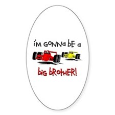 I'm Gonna Be a Big Brother! Oval Decal