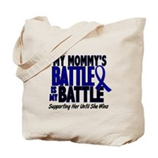 My Battle Too 1 BLUE (Mommy) Tote Bag