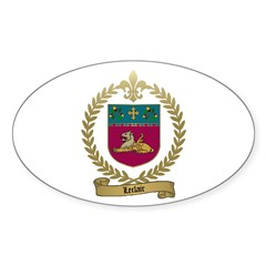 LECLAIR Family Crest Oval Decal