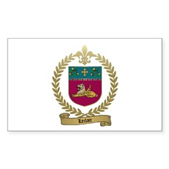 LECLAIR Family Crest Rectangle Decal