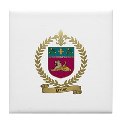 LECLAIR Family Crest Tile Coaster