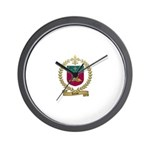 LECLAIR Family Crest Wall Clock