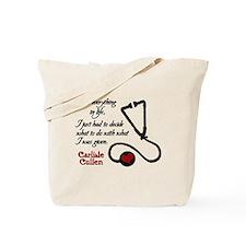 Carlisle Cullen: Heart Stetho Tote Bag