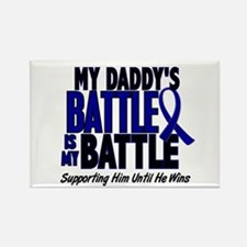 My Battle Too 1 BLUE (Daddy) Rectangle Magnet