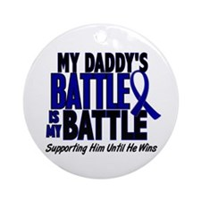 My Battle Too 1 BLUE (Daddy) Ornament (Round)