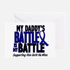 My Battle Too 1 BLUE (Daddy) Greeting Card