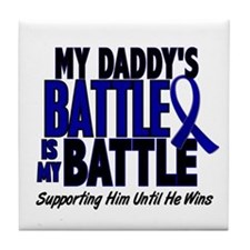 My Battle Too 1 BLUE (Daddy) Tile Coaster