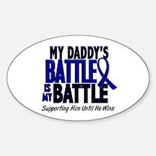 My Battle Too 1 BLUE (Daddy) Oval Sticker (10 pk)