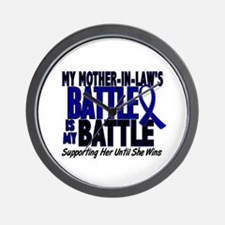 My Battle Too 1 BLUE (Mother-In-Law) Wall Clock