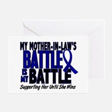My Battle Too 1 BLUE (Mother-In-Law) Greeting Card