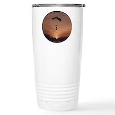 Travel Mug with Sunset Skydiver