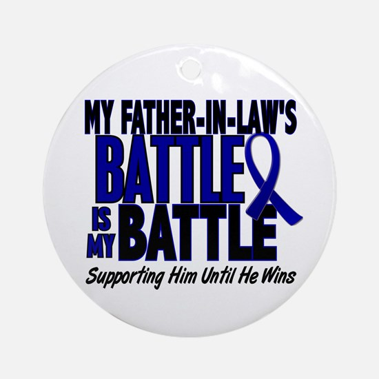 My Battle Too 1 BLUE (Father-In-Law) Ornament (Rou