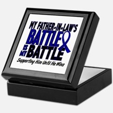 My Battle Too 1 BLUE (Father-In-Law) Keepsake Box
