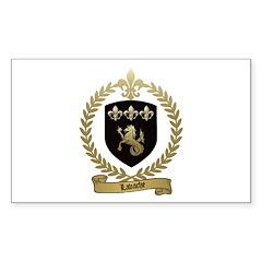 LAVACHE Family Crest Rectangle Decal
