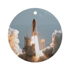 Space Shuttle Launch Ornament (Round)