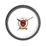 LASALLE Family Crest Wall Clock