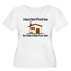 Loving Home Women's Plus Size Scoop Neck T-Shirt